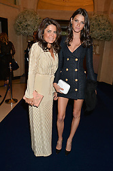 Left to right, DANIELLA ISSA HELAYEL and JEIFA CHIMINAZZO at the De Beers Moments in Light - a celebration of telented women in association with Women For Women International featuring photographs by Mary McCartney held at Claridge's, Brook Street, London on 18th September 2015.