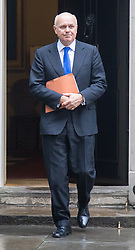 Downing Street, London, December 8th 2015. Work and Pensions Secretary Iain Duncan-Smith leaves Downing Street following the weekly cabinet meeting.