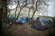 The tend camp in the industrial area called the jungle. In this camp about 600 migrants sleep. Mostly Eritreans and Sudaneese