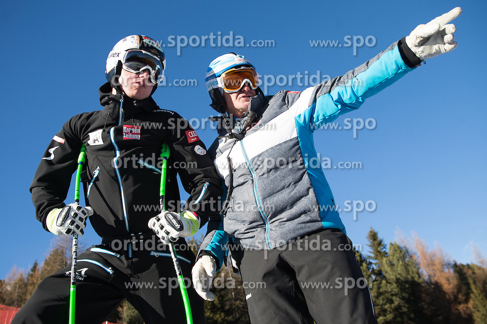 26.12.2015, Deborah Compagnoni Rennstrecke, Santa Caterina, ITA, FIS Ski Weltcup, Santa Caterina, Abfahrt, Herren, 1. Training, Streckenbesichtigung, im Bild Hannes Reichelt (AUT), Sportlicher Leiter ÖSV Herren- Alpin Andreas // Hannes Reichelt of Austria and OeSV men' s headcoach Andreas Puelacher during the course inspection of 1st practice run of men's Downhill of the Santa Caterina FIS Ski Alpine World Cup at the Deborah Compagnoni Course in Santa Caterina, Italy on 2015/12/26. EXPA Pictures © 2015, PhotoCredit: EXPA/ Johann Groder