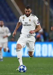 November 27, 2018 - Rome, Italy - AS Roma v FC Real Madrid : UEFA Champions League Group G.Karim Benzema of Real Madrid at Olimpico Stadium in Rome, Italy on November 27, 2018. (Credit Image: © Matteo Ciambelli/NurPhoto via ZUMA Press)