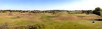 WASSENAAR / Den Haag - panorama hole 1, 2, en 3, gezien vanaf het startershuis.  Koninklijke Haagsche Golf Club    COPYRIGHT KOEN SUYK