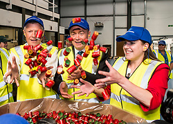 Liberal Democrat leader Tim Farron joins Scottish leader Willie Rennie and East Dumbartonshire candidate Jo Swinson on the campaign trail on a visit to Guala Closures Ltd, who supply bottle caps to the food and wine industry.<br /> <br /> &copy; Dave Johnston/ EEm