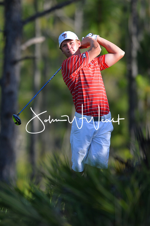 Wes Artac during  the second round of the NCAA Golf Championships at the Concession Golf Club in Bradenton, FL.
