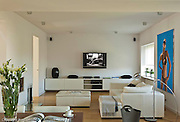 Modern white home interior in Warsaw Poland