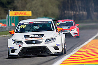 #49 Ferry Monster Autosport, SEAT Leon TCR, Yves Corthals (BEL). TCR Free Practice 1  as part of the WEC 6 Hours of Spa-Francorchamps 2016 at Circuit Spa-Francorchamps, Stavelot, Spa-Francorchamps, Belgium . May 05 2016. World Copyright Peter Taylor/PSP.