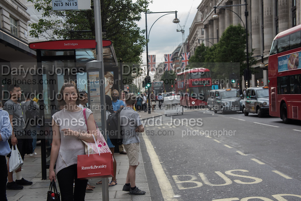 Bus Stop, Oxford St. London, 21 July 2016
