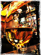 wine glass with white wine on bar cellphone photography,Iphone pictures,smartphone pictures