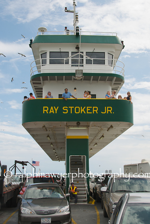 Ray Stoker, Jr. Texas state ferry operating between Galveston Island and Bolivar Peninsula, Texas.