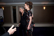 Sharman Macdonald; KEIRA KNIGHTLEY, The Laurence Olivier Awards,The Grosvenor House Hotel, Park Lane. London.   21 March  2010