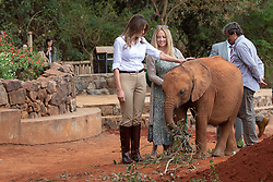 October 5, 2018 - Nairobi, Kenya - First Lady Melania Trump visits baby elephants at the Sheldrick Elephant Orphanage  (Credit Image: ? Andrea Hanks/White House via ZUMA Wire/ZUMAPRESS.com)