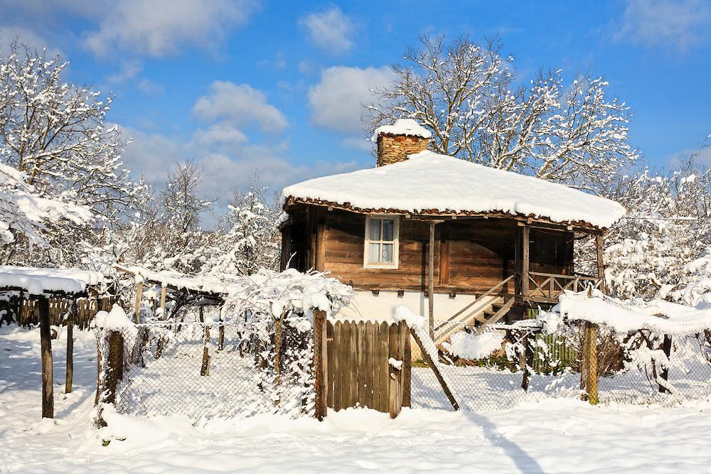 Village in Strandzha Mountain in winter