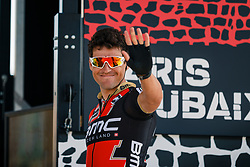 VAN AVERMAET Greg of BMC Racing Team at the signing before the 115th Paris-Roubaix (1.UWT) from Compiègne to Roubaix (257 km) at Compiègne, France, 9 April 2017. Photo by Pim Nijland / PelotonPhotos.com | All photos usage must carry mandatory copyright credit (Peloton Photos | Pim Nijland)