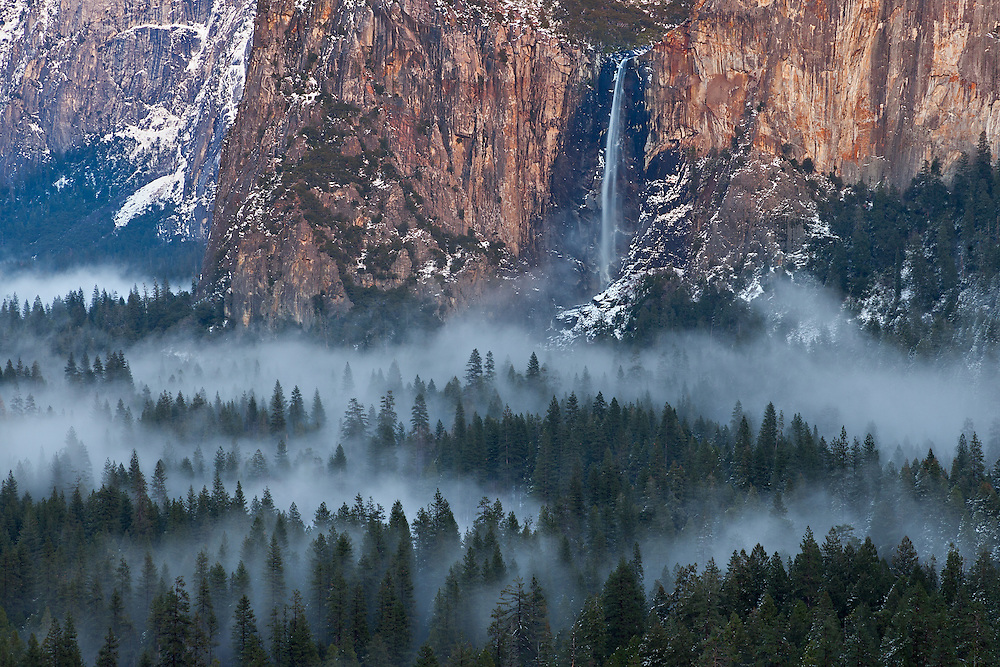 Bridalveil Falls from Tunnel View 5-42 PM