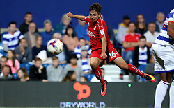 Jordan Stewart of Swindon Town shoots at goal - Mandatory by-line: Robbie Stephenson/JMP - 10/08/2016 - FOOTBALL - Loftus Road - London, England - Queens Park Rangers v Swindon Town - EFL League Cup