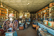Interior of the Boone Store, Bodie State Historic Park, California USA