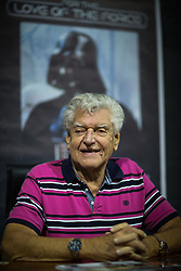 "© Licensed to London News Pictures . 06/12/2015 . Manchester , UK . DAVID PROWSE . Fans attend Star Wars exhibition "" For the Love of the Force "" at Bowlers Exhibition Centre in Manchester . Photo credit : Joel Goodman/LNP"