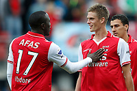 ALKMAAR - 16-09-2012 - voetbal Eredivisie - AZ - Roda JC, AFAS Stadion, AZ speler Jozy Altidore (l), debuut voor AZ speler Markus Henriksen (r).