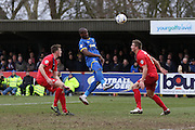 Tom Elliott of AFC Wimbledon during AFC Wimbledon and York City at the Cherry Red Records Stadium, Kingston, England on 19 March 2016. Photo by Stuart Butcher.