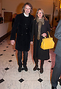 IVOR BRAKA; SARAH BRAKA, Opening of David Hockney ' A Bigger Picture' Royal Academy. Piccadilly. London. 17 January 2012