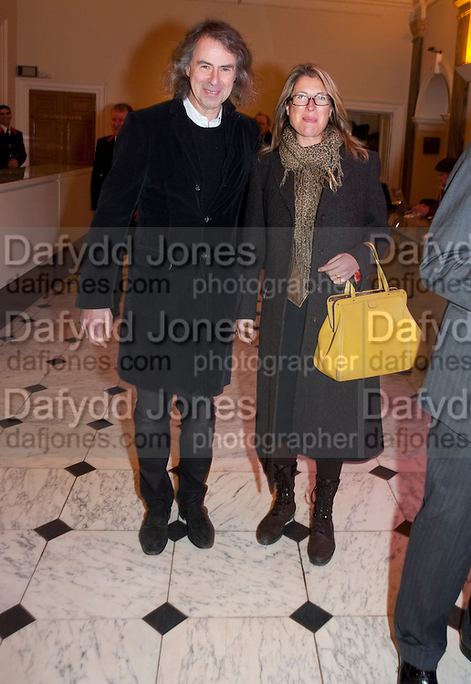 IVOR BRAKA; SARAH BRAKA, Opening of David Hockney ' A Bigger Picture' Royal Academy. Piccadilly. London. 17 January 2012