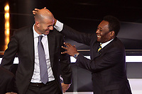 Zinedine Zidane e Pele'<br /> Zurigo 09/01/2012 Kongresshouse<br /> Football / Calcio<br /> Ballon d'Or awarding ceremony - Pallone d'oro 2012<br /> Foto Insidefoto Paolo Nucci