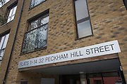 """As part of an anti-terrorism operation involving three locations across London, a flat at an address in Peckham Hill Street was raided and an arrest made. A """"pre-planned, intelligence-led operation"""" led police to search the property behind closed gates the morning after 29-year-old British Pakistani was taken away for questioning on what is believed to be firearms offences."""