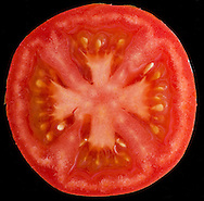 Cross section of red tomato.