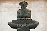 Mother of the Croats. Sculpture by Ivan Mestrovic, outside the Faculty of Law, on Trg Marsala Tita in central Zagreb, Croatia © Rudolf Abraham
