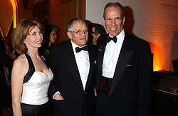 Left to right, JANE ASHER, artist DAVID HOCKNEY and SANDY NAIRN at a fundraising gala to celebrate 150 years of The National Portrait Gallery, at the NPG, St.Martin's Place, London on 28th February 2006.<br /><br />NON EXCLUSIVE - WORLD RIGHTS
