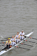 London, GREAT BRITAIN, Tideway Scullers II, Elite LWT 4X Pennet winners,  Fullers Fours Head of the River Race, Raced over the reverse Championship Course, Mortlake to Putney. Saturday  [Date}. [Mandatory Credit. Peter Spurrier/Intersport Images] Rowing Course: River Thames, Championship course, Putney to Mortlake 4.25 Miles,