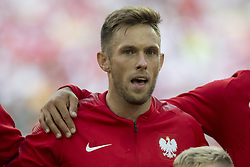 June 19, 2018 - Moscow - Maciej Rybus of Poland poses for photo during the 2018 FIFA World Cup Group H match between Poland and Senegal at Spartak Stadium in Moscow, Russia on June 19, 2018  (Credit Image: © Andrew Surma/NurPhoto via ZUMA Press)