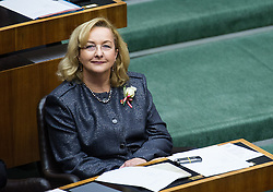 29.10.2013, Parlament, Wien, AUT, Parlament, 1. Nationalratssitzung, Konstituierende Sitzung des Nationalrates mit Angelobung der Abgeordneten. im Bild Finanzministerin Maria Fekter // Minister of Finance Maria Fekter during the 1st meeting of the national assembly of austria, austrian parliament, Vienna, Austria on 2013/10/29, EXPA Pictures © 2013, PhotoCredit: EXPA/ Michael Gruber