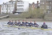 Putney, GREAT BRITAIN,   Oxford Blue Boat - Training, 2009 Boat Race,  Rowing 'Championship Course' Putney to Mortlake, on the River Thames, Wed 25.03.2009. [Mandatory Credit, Peter Spurrier / Intersport-images].Oxford Crew, left to Right, Bow, Michal PLOTKOWIAK, Colin SMITH, Alex HEARNE, Ben HARRISON, Sjoerd HAMBURGER, Tom SOLESBURY, George BRIDGEWATER, Ante KUSURIN and cox Colin GROSHONG. .