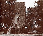 "Vintage Photo, Jamestown, Virginia ""The Colonial Dames"" at the old church on Jamestown Island on the James River, circa 1900 (before 1907) APVA owned site. Original Photo may have been shot by Col. E. B. Thompson. Site is now part of the Colonial National Historic Site at Jamestown Island, oldest permanent settlement in English North America established in 1607...."