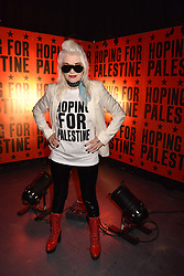 """Pam Hogg at """"Hoping For Palestine"""" Benefit Concert For Palestinian Refugee Children held at The Roundhouse, Chalk Farm Road, England. 04 June 2018."""