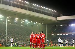 Liverpool's Lazar Markovic celebrates after scoring the opening goal  - Photo mandatory by-line: Matt McNulty/JMP - Mobile: 07966 386802 - 10/02/2015 - SPORT - Football - Liverpool - Anfield - Liverpool v Tottenham Hotspur - Barclays Premier League