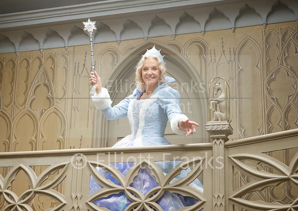 Hayley Mills as Fairy Godmother at the Cinderella publicity shoot for the Richmond Theatre production of Cinderella at Strawberry Hill House, Strawberry Hill, Nr Richmond, Great Britain <br /> 14th October 2015 <br /> <br /> Hayley Mills as Fairy Godmother <br /> <br /> Matthew Kelly as Ugly Sister Cheryl<br /> <br /> Matthew Rixon as Ugly Sister Rita<br /> <br /> Chris Jarvis as Buttons <br /> <br /> Rhiannon Chesterman as Cinderella <br /> <br /> Shetland ponies are Po and Lami<br /> <br /> <br /> Photograph by Elliott Franks <br /> Image licensed to Elliott Franks Photography Services