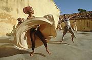 CUBA, TRINIDAD..African Folk Dance rehearsal..(Photo by Heimo Aga)