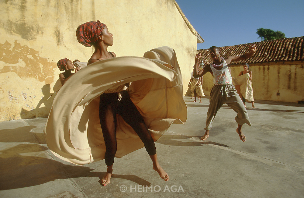 CUBA, TRINIDAD..African Folk Dance rehearsal..(Photo by Heimo Aga)