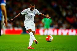 Theo Walcott of England shoots - Mandatory byline: Jason Brown/JMP - 07966 386802 - 09/10/2015- FOOTBALL - Wembley Stadium - London, England - England v Estonia - Euro 2016 Qualifying - Group E