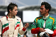 22.11.2008 Kuala Lumpur, Malaysia, .Edoardo Piscopo (ITA), driver of A1 Team Italy, Adrian Zaugg (RSA), driver of A1 Team South Africa  - A1GP World Cup of Motorsport 2008/09, Round 3, Sepang, Saturday Qualifying - Copyright A1GP - Free for editorial usage