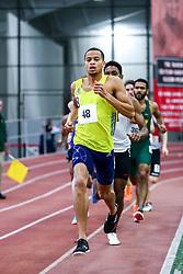 mens 800 meters, BAA, Christian Harrison, adidas<br /> Boston University Scarlet and White<br /> Indoor Track & Field, Bruce LeHane , adidas, BAA,
