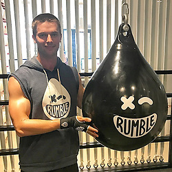 """Patrick Schwarzenegger releases a photo on Instagram with the following caption: """"I dunno why I look so awkward in this \ud83d\ude02\ud83d\ude02 Anyways, @rumble_boxing opens Tom in San Fran FIDI!!! Proud to be part of this company. Go try this fun/ass kicking workout. Shout out to @eugeneremm for building great company \u0026 to the other boys for having me along the journey @markbirnbaum @noahdneiman @joeferraro7 @stenz18 @andrewgstern"""". Photo Credit: Instagram *** No USA Distribution *** For Editorial Use Only *** Not to be Published in Books or Photo Books ***  Please note: Fees charged by the agency are for the agency's services only, and do not, nor are they intended to, convey to the user any ownership of Copyright or License in the material. The agency does not claim any ownership including but not limited to Copyright or License in the attached material. By publishing this material you expressly agree to indemnify and to hold the agency and its directors, shareholders and employees harmless from any loss, claims, damages, demands, expenses (including legal fees), or any causes of action or allegation against the agency arising out of or connected in any way with publication of the material."""