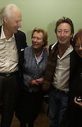 Sir George and Lady Martin and Julian Lennon, Launch of 'John' by Cynthia Lennon at Six, Fitzroy Sq. London. 27 September 2005. ONE TIME USE ONLY - DO NOT ARCHIVE © Copyright Photograph by Dafydd Jones 66 Stockwell Park Rd. London SW9 0DA Tel 020 7733 0108 www.dafjones.com