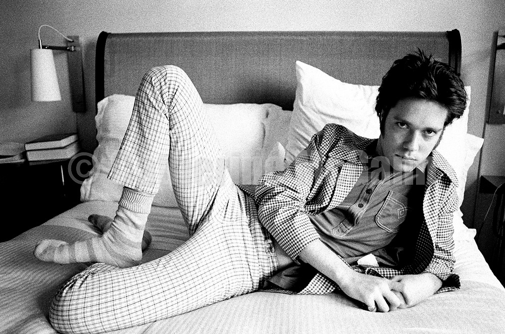 NEW YORK - MAY 15:  Singer songwriter Rufus Wainwright poses for a portrait at the Cheyenne Diner on May 15, 1998 in New York City, New York (Photo by Catherine McGann)..Copyright 2010 Catherine McGann