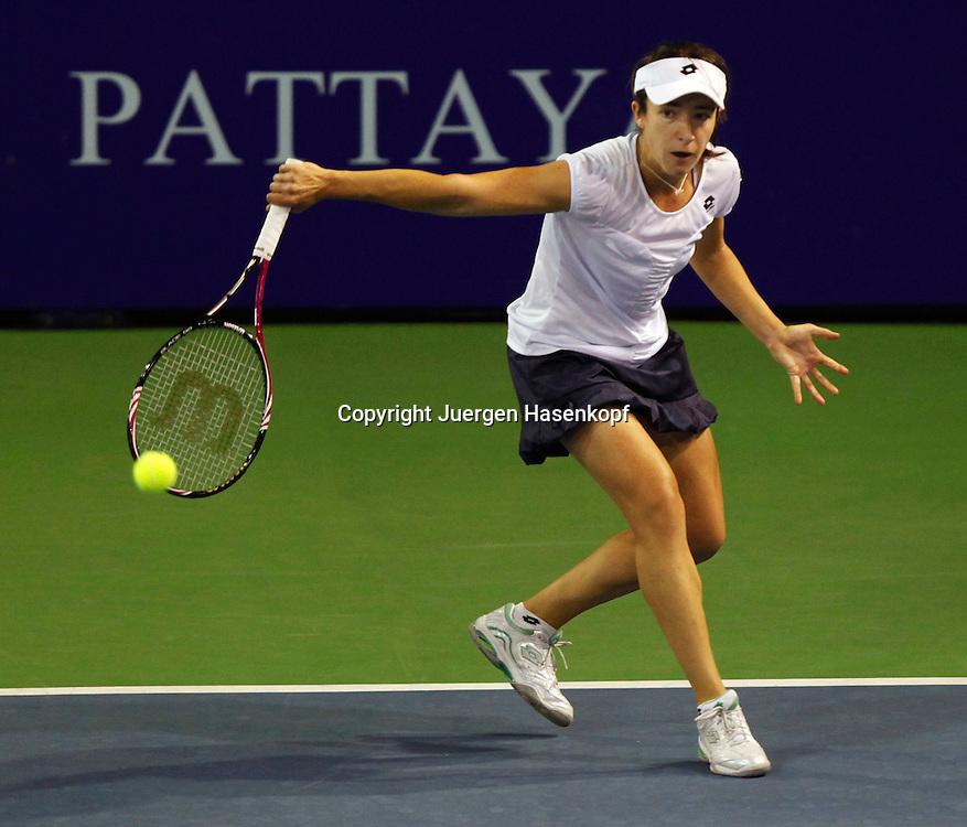 PTT Pattaya Open 2011,WTA Tennis Turnier,. International Series, Dusit Resort in Pattaya,.Thailand, Alberta Brianti (ITA),action