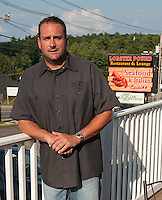 Richard Ray Proprietor on the deck of the Lobster Pound Restaurant and Lounge offering Seafood and Italian Cuisine at Weirs Beach.   (Karen Bobotas/for the Laconia Daily Sun)