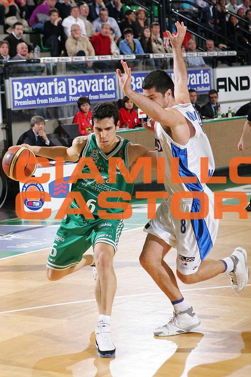 DESCRIZIONE : Treviso Lega A1 2006-07 Benetton Treviso Eldo Napoli <br /> GIOCATORE : Zisis <br /> SQUADRA : Benetton Treviso <br /> EVENTO : Campionato Lega A1 2006-2007 <br /> GARA : Benetton Treviso Eldo Napoli <br /> DATA : 28/01/2007 <br /> CATEGORIA : Penetrazione <br /> SPORT : Pallacanestro <br /> AUTORE : Agenzia Ciamillo-Castoria/S.Silvestri <br /> Galleria : Lega Basket A1 2006-2007 <br /> Fotonotizia : Treviso Campionato Italiano Lega A1 2006-2007 Benetton Treviso Eldo Napoli <br /> Predefinita :