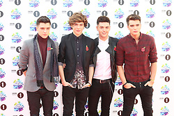 JJ Hamblett; George Shelley; Jaymi Hensley; Josh Cuthbert; Union J, BBC Radio 1 Teen Awards, Wembley Arena, London UK, 03 November 2013, Photo by Richard Goldschmidt © Licensed to London News Pictures. Photo credit : Richard Goldschmidt/Piqtured/LNP